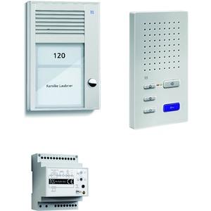 home:pack Audio Aufputz für 1 Wohneinheit, mit Außenstation PAK 1 Klingeltaste + Freisprecher ISW3130 + Steuergerät BVS20