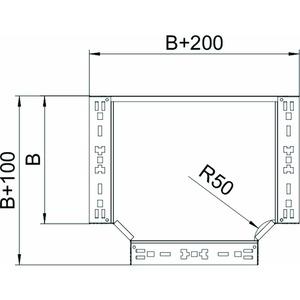 RTM 620 FS, T-Abzweigstück mit Schnellverbindung 60x200, St, FS