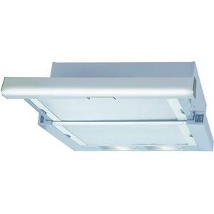 Flachschirmhaube 60 cm - Edelstahlfront, 3 Stufen, Kippschalter