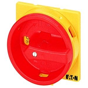 SVB-T0, Griff, rot/gelb, abschließbar, für Vorhängeschloss, für T0, T3, P1