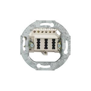 TAE 3x6 NFN Up 0, 3 x 6-polig, 6 Schraubkontakte, mit Spreizkrallen, perlweiß (ähnlich RAL 1013)