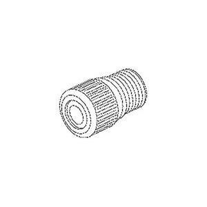 103, Klemmnippel, Länge 21 mm, Gewinde M10x1, für Kabel-Ø 5-7 mm, Messing, blank