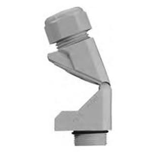 Winkel-Kabelverschraubung IP68 schwarz Nennweite 13-18mm