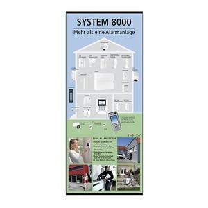 RU8000-1 ROLLUP, Rollup-Display System 8000. Aufsteller für Präsentationen, 880x2110mm