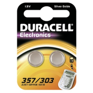 Duracell 357/303 B2, Duracell Knopfzelle 357