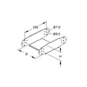 RGE 85.500, Gelenkstück für KR, vertikal, 85x500 mm, Stahl, bandverzinkt DIN EN 10346, inkl. Zubehör