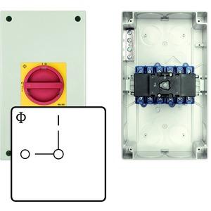 Kunststoffgehäuse, Schutzisoliert, Lasttrennschalter, Ausschalter 3-polig,