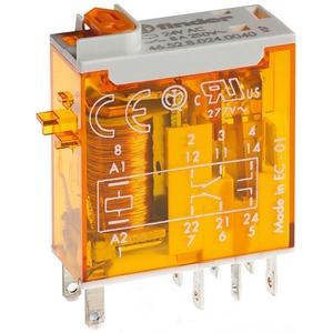46.52.8.024.0054, Relais mit Steckanschlüssen, LED-Anzeige, 2 Wechsler 8 A, Spule 24 V AC