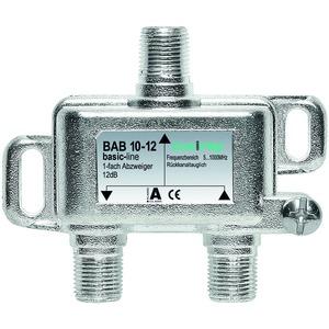 Abzweiger, 1-fach, 12 dB, 5-1006 MHz, F-Stecker, hohe Rückflussdämpfung, basic