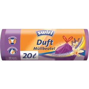 20 l Duft Müllbeutel Vanille-Lavendel, VPE, Swirl® 20 l Duft Müllbeutel Vanille-Lavendel, VPE