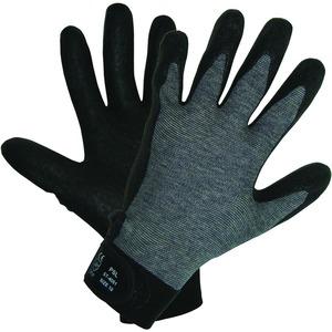 TFC Montagehandschuh Gr. 9, grau-schwarz, 5-Finger