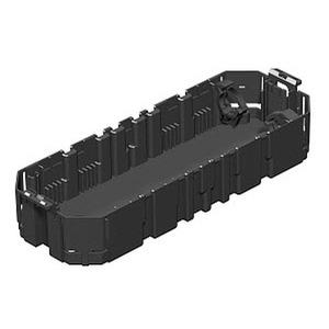 GB3 1, Gerätebecher mit Bodenöffnung 36x30mm 208x76x39, PA, graphitschwarz, RAL 9011
