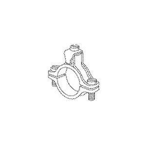 40/1, Erdungs-Rohrschelle, 66,5x66,5x16 mm, für Rohr-Ø 33,5 mm, Zinkdruckguss