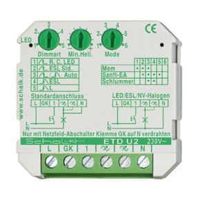 ETD U2, Universal Tastdimmer (UP), auch für LED/ESL