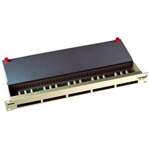 Telefonie Panel 50fach, 1HE, ungeschirmt, lichtgrau (RAL 7035)
