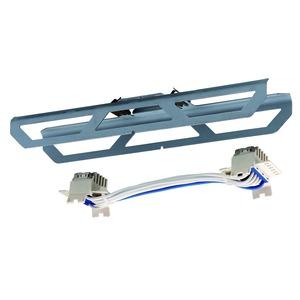 VLTV-5 TRAGSCHIENENVERBINDER, Tragschienenverbinder mit Leitungslänge 200mm für 5-pol. Stromführung (blau), IP20/54.