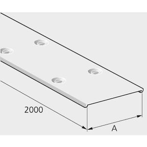 D2 50 S, Kabelkanal-Deckel 50x2000mm, Stahl verzinkt