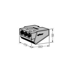 Verbindungsdosenklemme 3-Leiter-Klemme 4 mm² grau