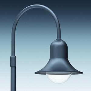 Mastaufsatzleuchte RETRO VI LED , 1armig, klar, LLM LED 19W/1.800lm, 3.000K , extrem breitstrahlend, SK I, Durchm. 60mm