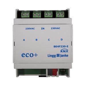 KNX eco+ Binäreingang 4-fach, Signaleingang 230V AC/DC, 4 TE;