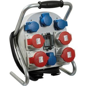 Tragbarer Stromverteiler 400V/230V 2,0m H07RN-F 5G4mm² CEE