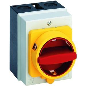H212-41300-077N4 Haupt-/Notausschalter 20A, Haupt-/Notausschalter im Gehäuse 3-polig In=20A N-VHS gelb/rot IP66 Isolierstoffgehäuse