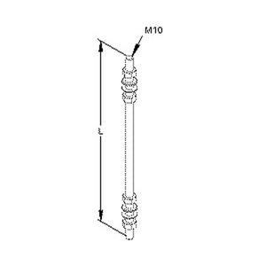 M 10/1000, Gewindestab M10, Länge 1000 mm, Stahl, gal. verzinkt DIN EN ISO 2081/4042,blaupassiviert, inkl.Zubehör