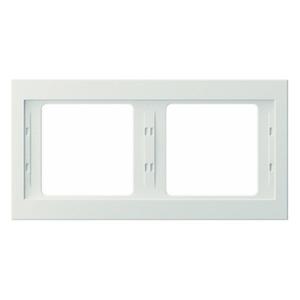 Rahmen Berker K.1 weiß, glänzend
