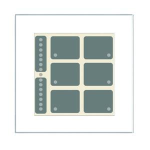 LCN - GT8W, Glas-Tastenfeld, weiß, mit 8 Tasten, 6LEDs, Bargraph, integr. TS