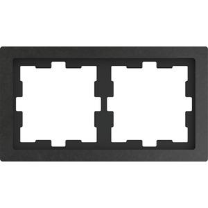 D-Life Stein Rahmen, 2fach, Schiefer geschliffen