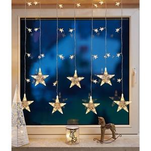 Sternenvorhang mit 7 Straengen LED ww B:1m H:1,2m