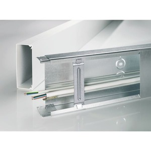 BES Kabelhalteklammer 100 mm, Leitungskanal Stahlblech BES Kabelhalteklammer 100 mm