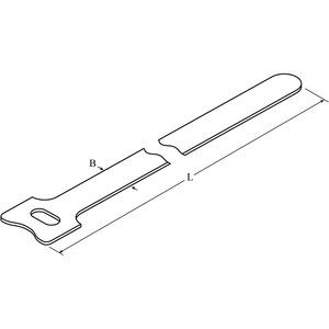 DTKB-0210-W-BK-PE-X, DIS-TY Kabelbinder 16x210 schwarz in Klettbandausführung Preis per VPE  VPE =20