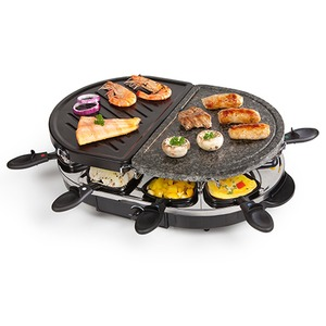 Raclette m. heißem Stein