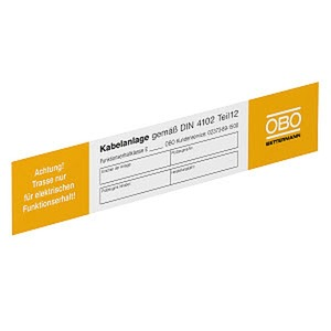 KS-E DE, Kennzeichnungsschild für Funktionserhalt 250x43mm, PVC