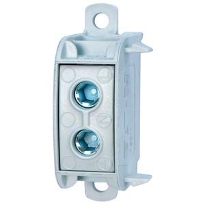 K50/1, Block-/Reihenklemme, 2,5-50qmm, 1p, 150A, schnappbar, schraubbar, Dornbefestigung