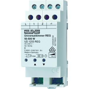 UD 1255 REG, Dimmer Universal, REG, Nennspannung: AC 230 V ~, 50 bis 500 W/VA, 2 TE