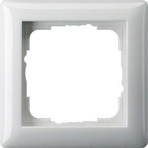 Abdeckrahmen 1-fach, Standard 55 Reinweiß glänzend, 021103