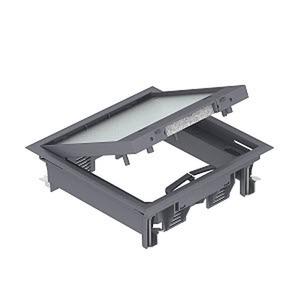 GES4-2U10T 7011, Geräteeinsatz für Universalmontage 222x222x65, PA, eisengrau, RAL 7011