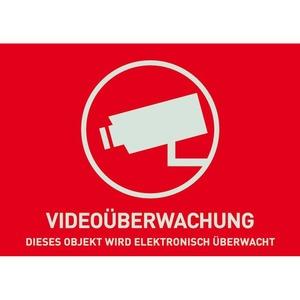 Warnaufkleber Video -D- 74x52,5mm