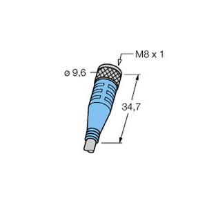 SKP3-2/S90, M8 x 1 / Ø 8mm Rundsteckverbinder, Kupplung M8 x 1