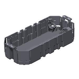 GB2, Gerätebecher für 2 Installationsgeräte EKR 165x76x39, PA, graphitschwarz, RAL 9011