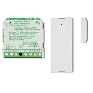 ZAS F, Bestehend aus FV2 E und FV2 SM, ideal geeignet für die häufig vorgeschriebene Zuluftüberwachung beim Betrieb von Dunstabzugshauben, minimaler Installationsaufwand, lange Batterielebensdauer d