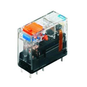 RCI484AC4, Relais, RIDERSERIES RCI, 24 V DC, LED grün, Freilaufdiode, 2 Wechsler mit Prüftaste (AgNi 90/10) , 240 V AC, 8 A, Raster in mm: 5.00