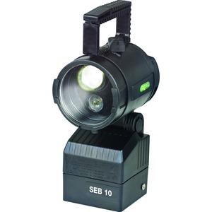 1 1147 000 820, Ex-Handscheinwerfer SEB 10/10L für ladbare LiFePO4-Batterie SEB 10 mit zweilinsigem Hochleistungs LED-System, Streulinse und Batterie (ladbar mit LG 4