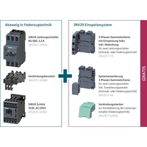 3RA9012-7AA01, Starterpaket für einen Abzweig in Federzugtechnik mit Einspeisung