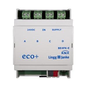 KNX eco+ Binäreingang 4-fach, Kontaktabfrage, 4 TE;