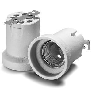 Fassung, E40, Porzellan, weiß 750V/18A/T270, Kontaktklemmen 1,5-4qmm