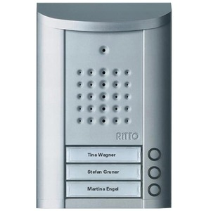 Entravox Türstation Audio, 3 WE, Audio, silber eloxiert