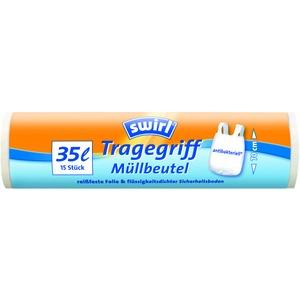 35 l Tragegriff Müllbeutel   VPE, Swirl® 35 l Tragegriff Müllbeutel, VPE
